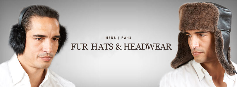 Mens Real Fur Hats