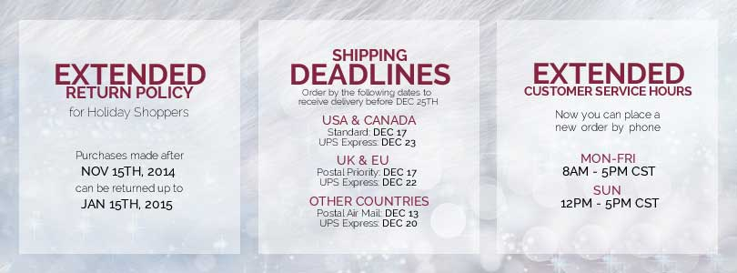 Extended Holiday Returns and Shipping Deadlines