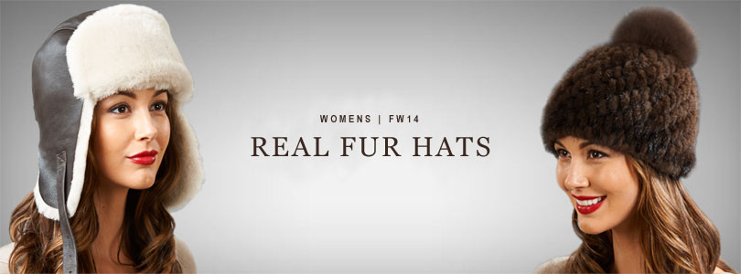 Womens Real Fur Hats
