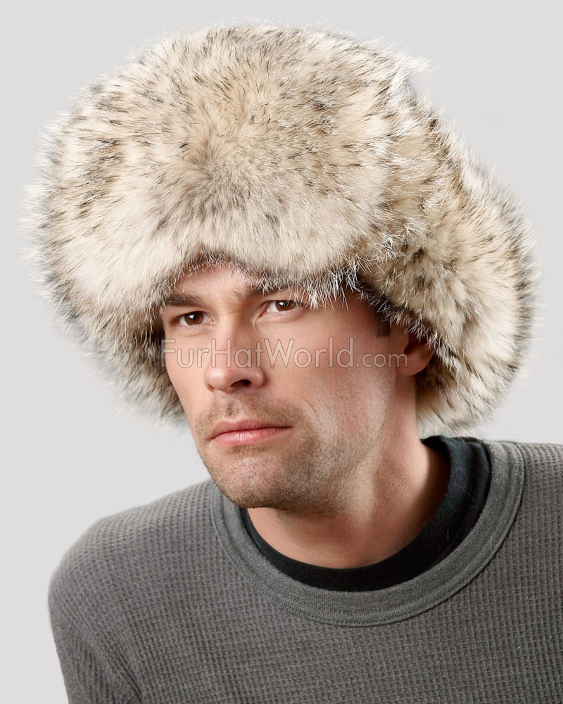 Badger Fur Trapper Hat for Men