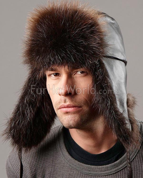 The Swiss Alps Beaver Fur Trapper Hat for Men