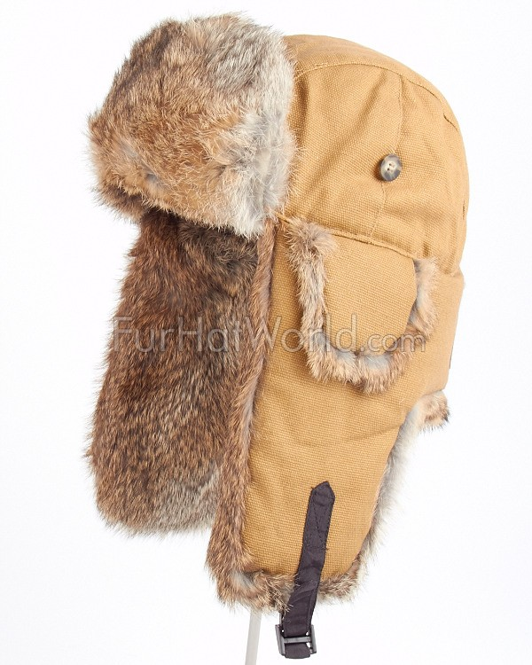 ee95346fe9723 Duck Brown Canvas Mad Bomber® Hat  FurHatWorld.com