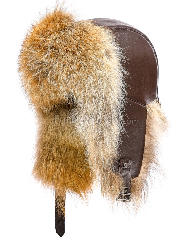 c1a81399d4f The St.Moritz Coyote Fur Trapper Hat for Men  FurHatWorld.com