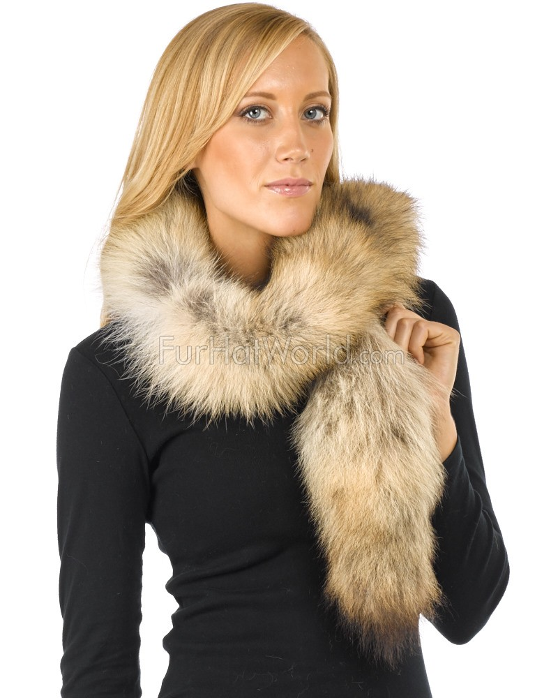Sierra Natural Coyote Fur Boa Scarf