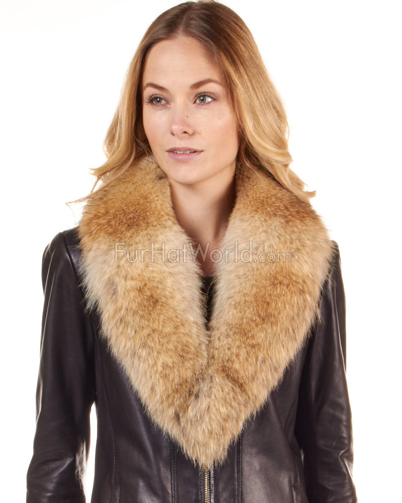 Coyote Large Detachable Fur Collar