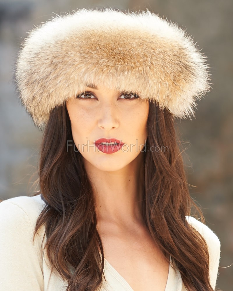Coyote Fur Headband: FurHatWorld.com