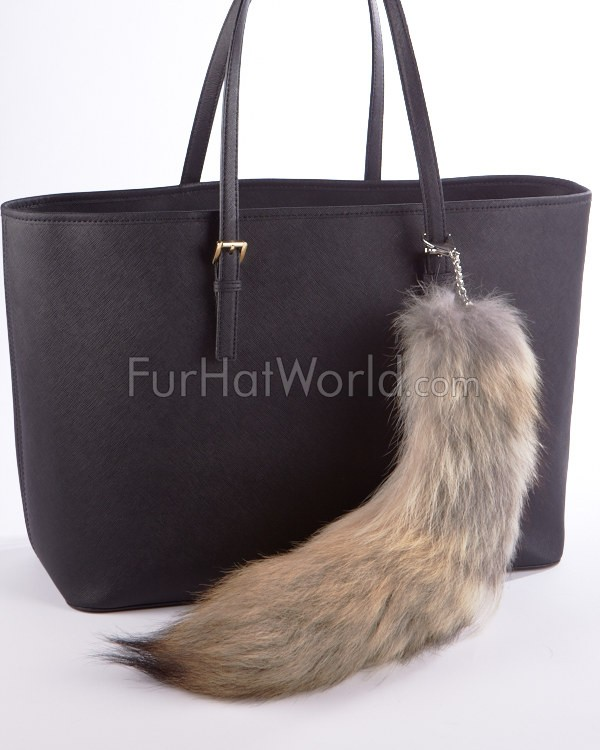 Coyote Tail Fur Bag Charm