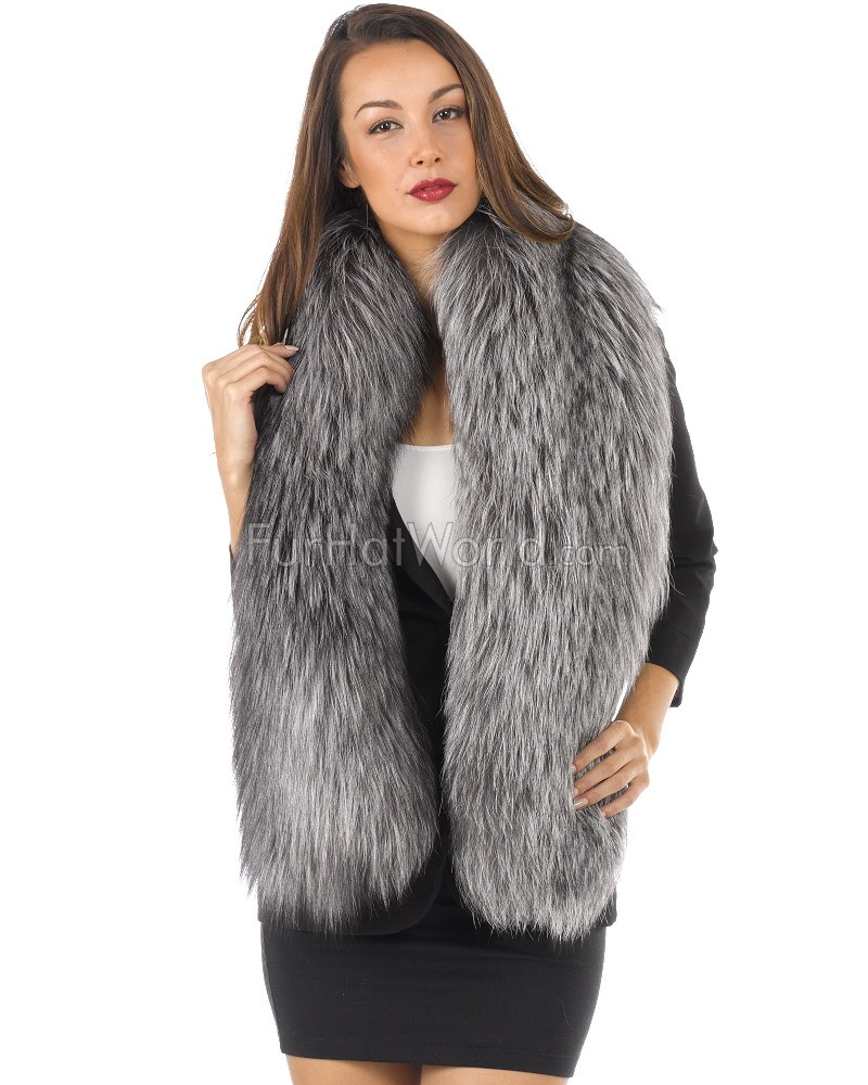 Exquisite Silver Fox Fur Stole