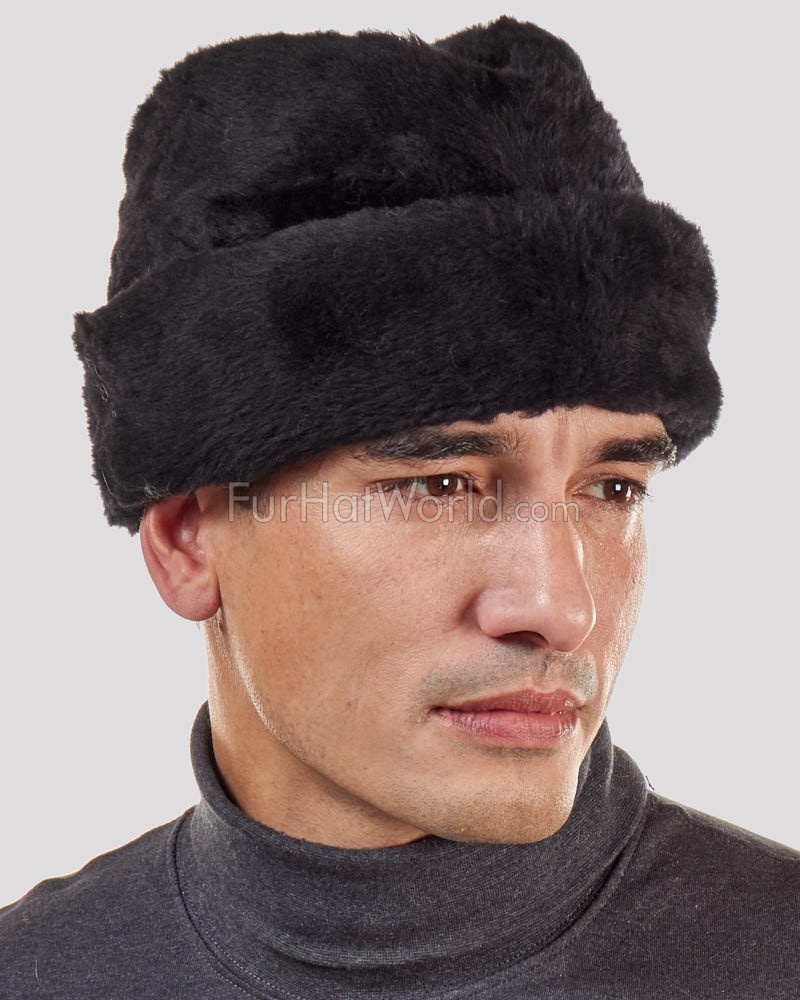 Faux Fur Envoy Ambassador Hat - Black