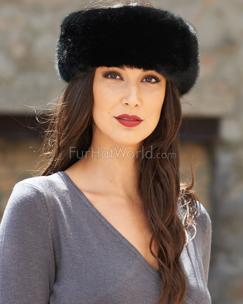 Faux Fur Headband - Black
