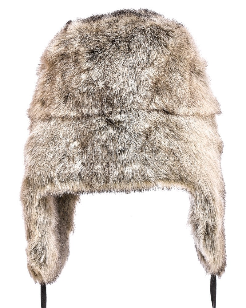 953e322aa Grey Faux Fur Russian Ushanka Hat for Men