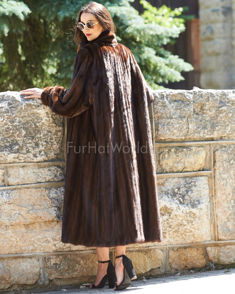 Elaine Classic Full Length Mink Coat: FurHatWorld.com