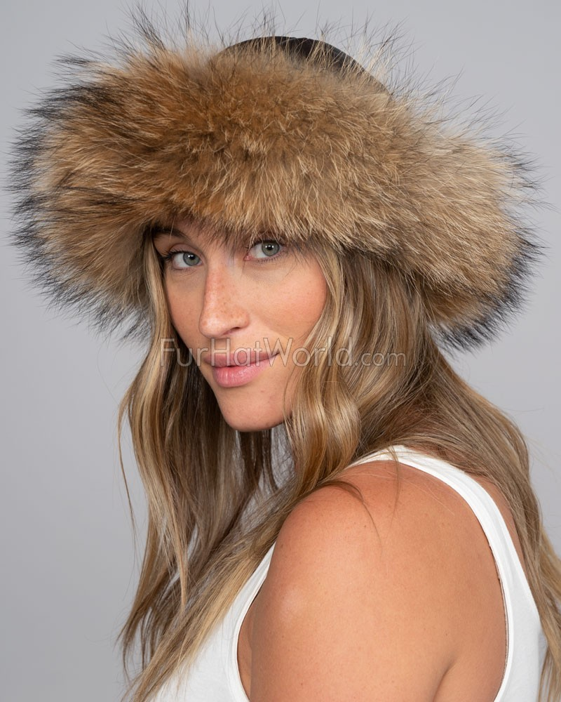 The Tatiana Finn Raccoon Cuff Hat