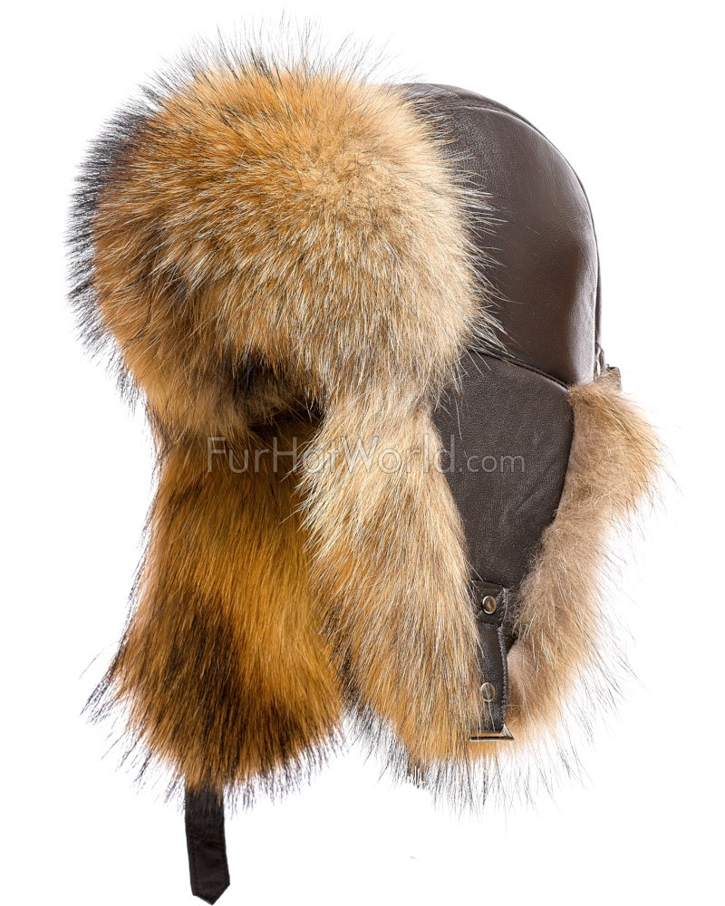 The St.Moritz Finn Raccoon Fur Trapper Hat