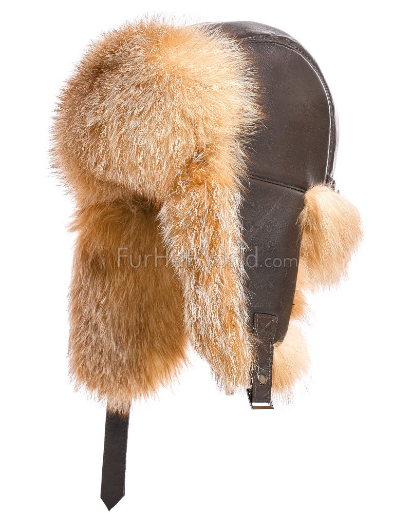 The St.Moritz Crystal Fox Fur Trapper Hat