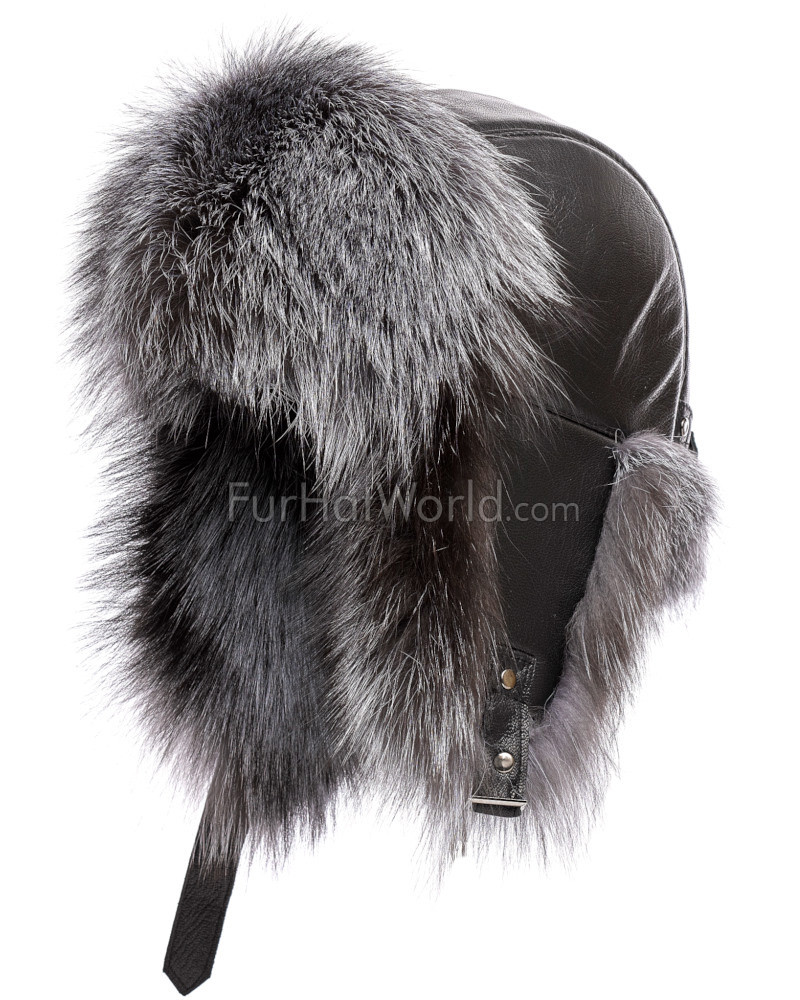 The St.Moritz Silver Fox Fur Trapper Hat for Men