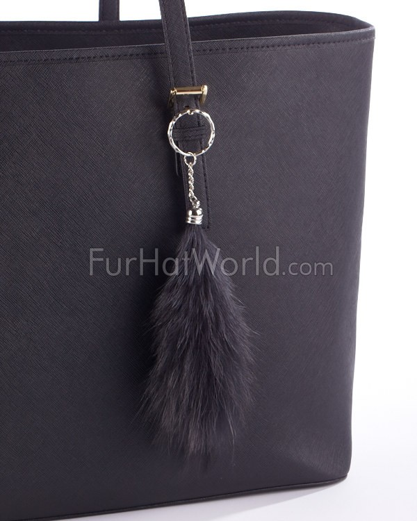 Fox Mini Fur Bag Charm