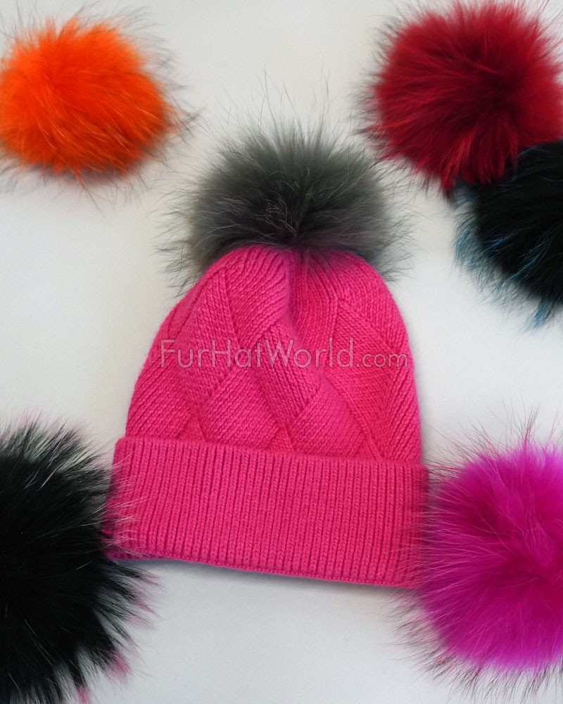 562bea550ae Interchangeable Finn Raccoon Pom Pom  FurHatWorld.com