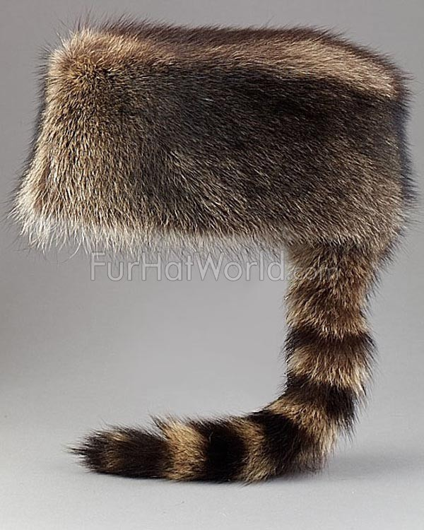 Kids Real Coonskin Davy Crockett Cap