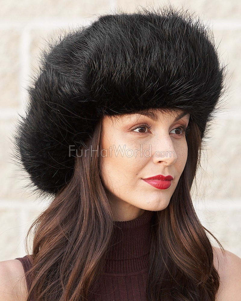 Ladies Beaver Full Fur Russian Hat in Black