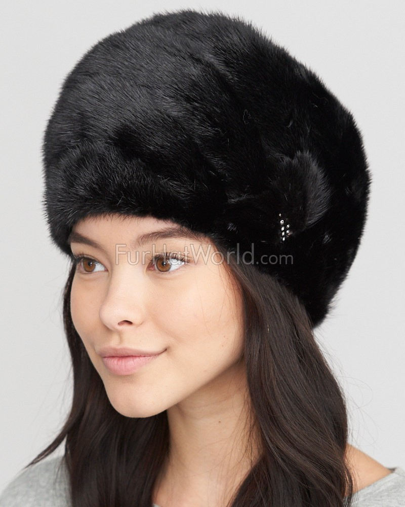 dfa5656dac2 The Diana Black Mink Turban Hat  FurHatWorld.com