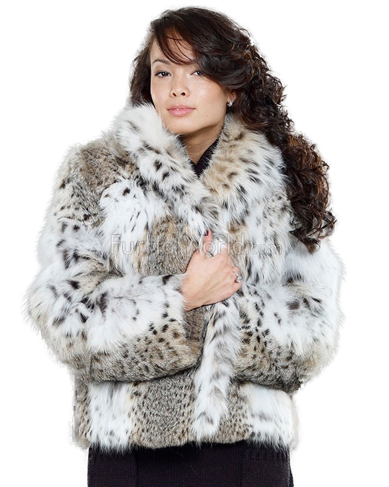 The Annabella Lynx Fur Bolero Jacket for Women: FurHatWorld.com