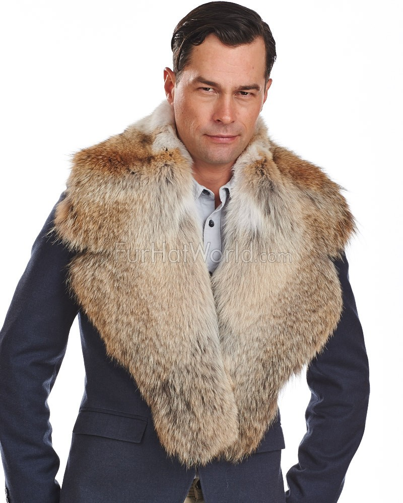 Edward Mens Coyote Fur Collar