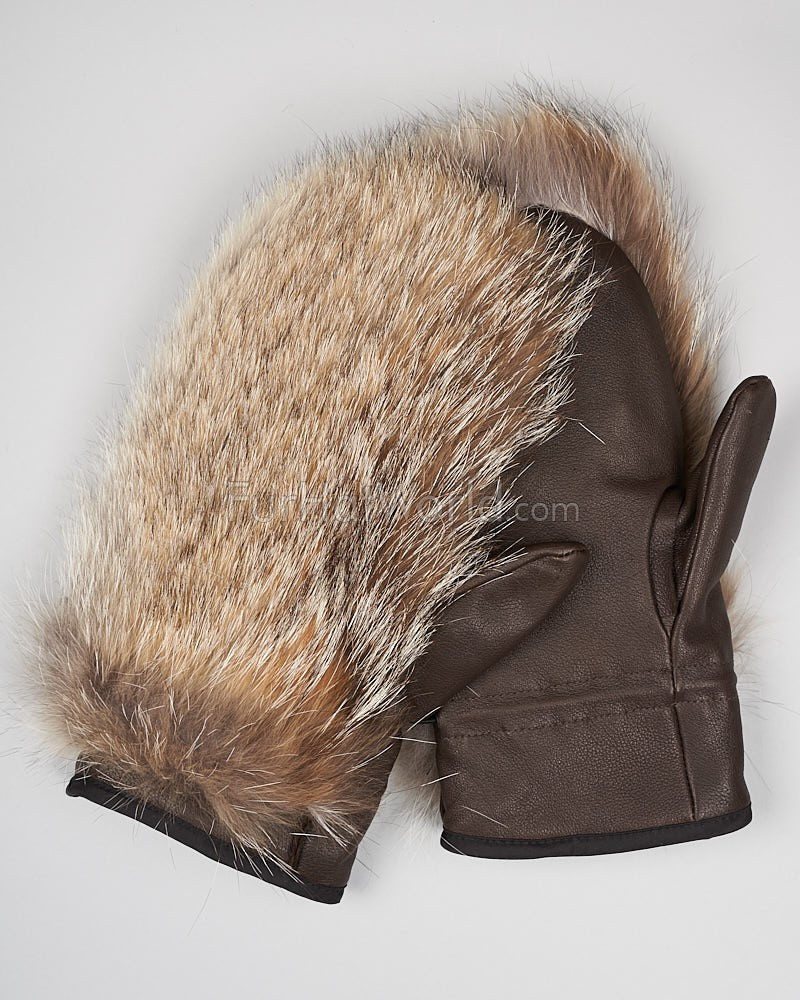 Mens Coyote Fur Mittens