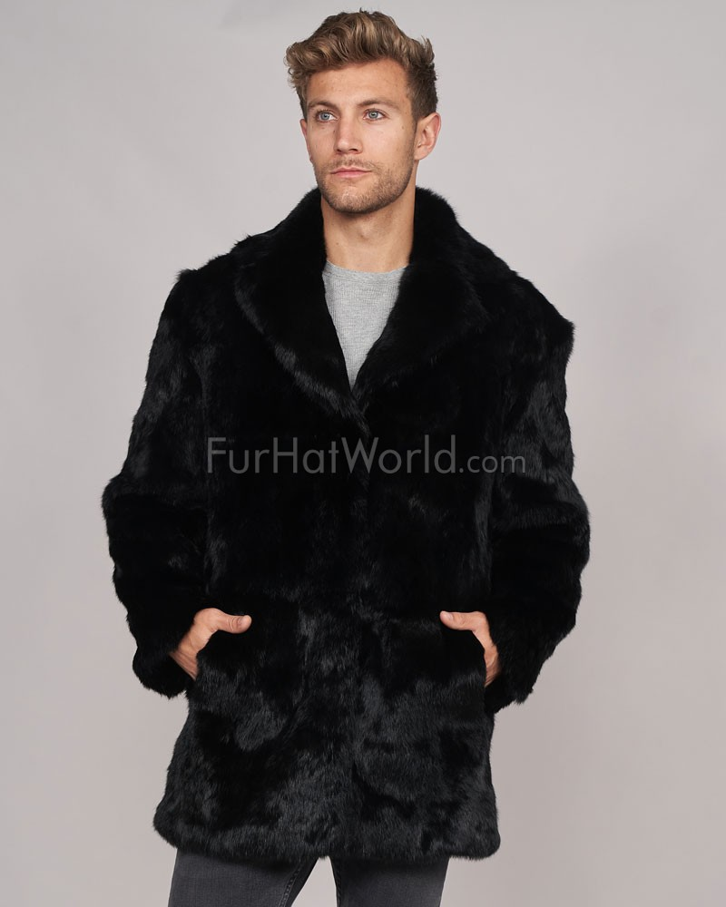 Shop for men's faux fur coats, jackets and accessories, including men's bomber jackets and leather coats lined with faux fur plus faux fur hats and scarves.