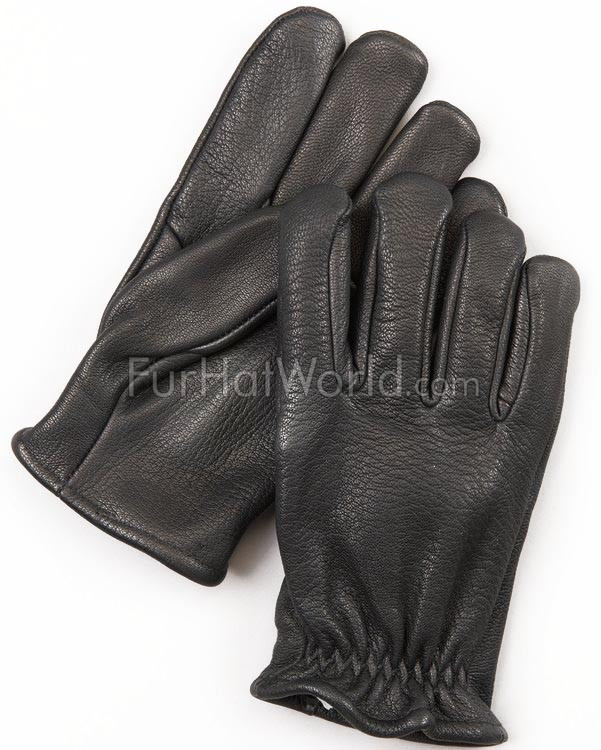 Mens Leather Police Gloves