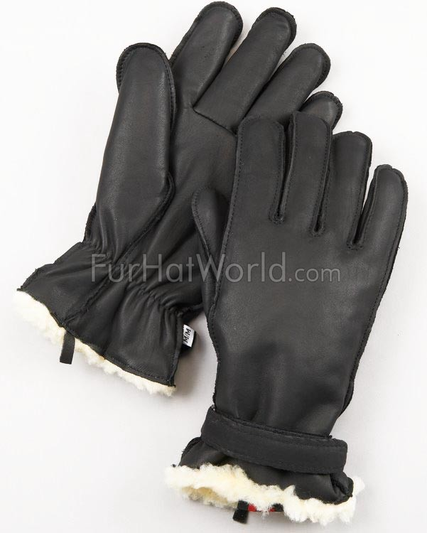 Mens Leather Ultimitt Klondike Gloves - Black