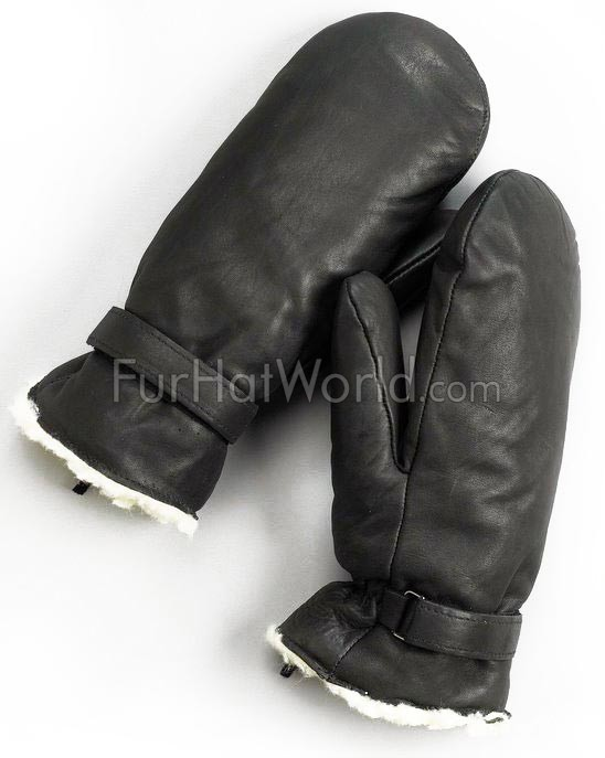 Mens Leather Ultimitt Klondike Mittens - Black