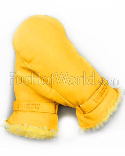 Leather Ultimitt Klondike Mittens in Wheat