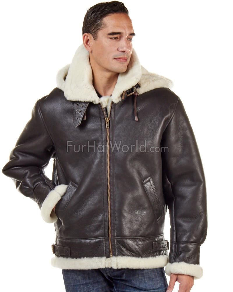 Jack Shearling Bomber With Zip Out Hood For Men Furhatworld Com