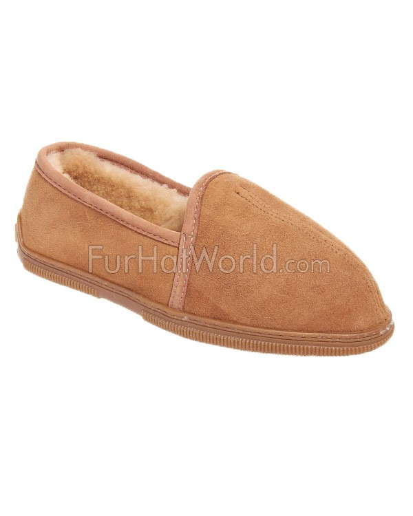 Men's Soft Sole Shearling Sheepskin Weekend Slippers