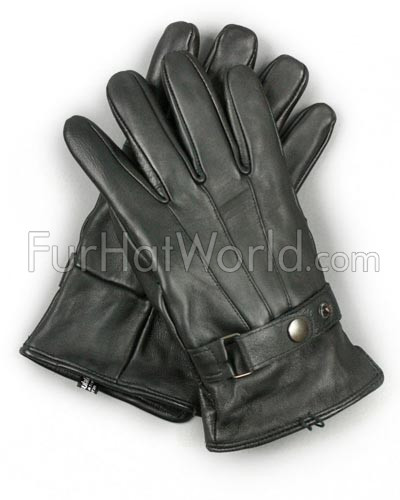 Mens Thinsulate Lambskin Leather Gloves