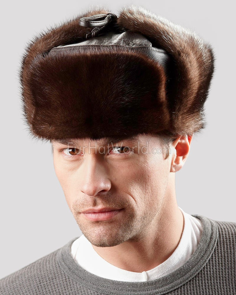 The Mink Russian Trooper Hat for Men