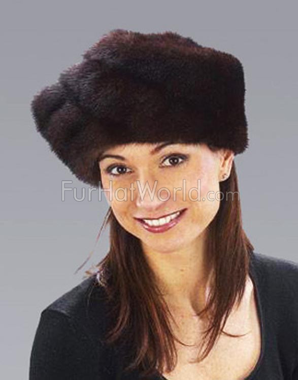 Mink Turban Hat
