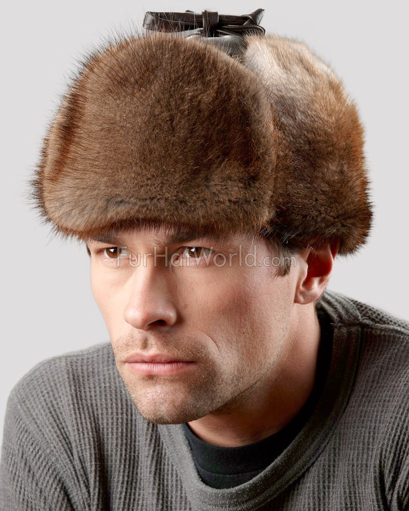 Muskrat Trapper Hat for Men