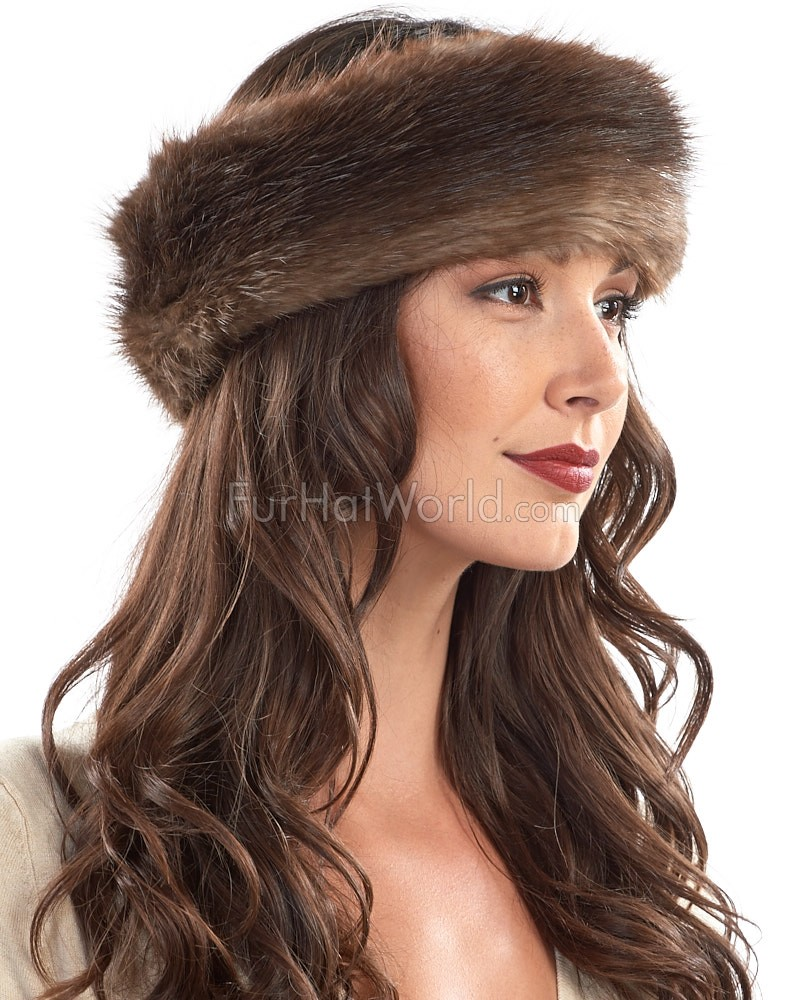 Natural Beaver Fur Headband