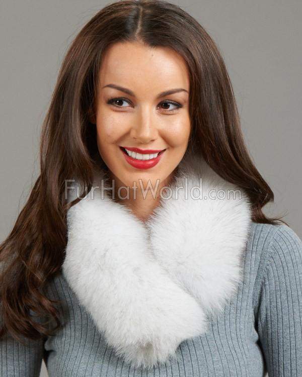 Natural Blue Fox Fur Collar