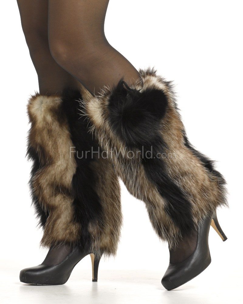 719702720ce Opossum Fur Boot Covers Leg Warmers  FurHatWorld.com