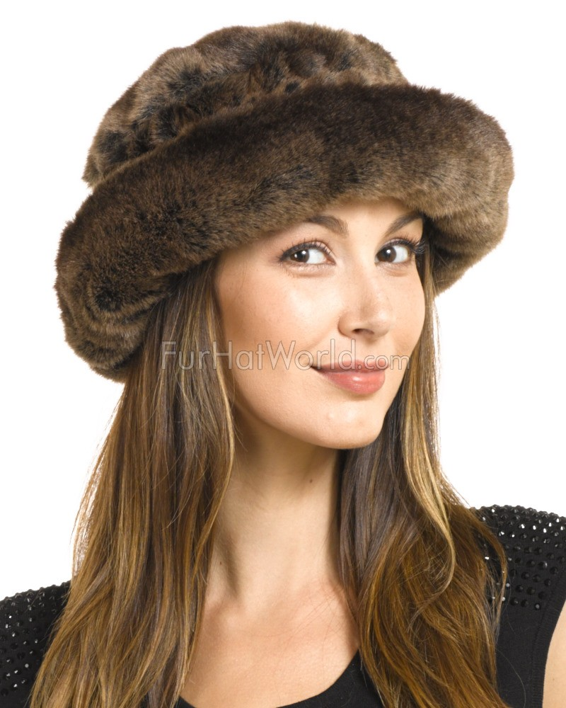 Avery Premium Faux Fur Hat in Sable