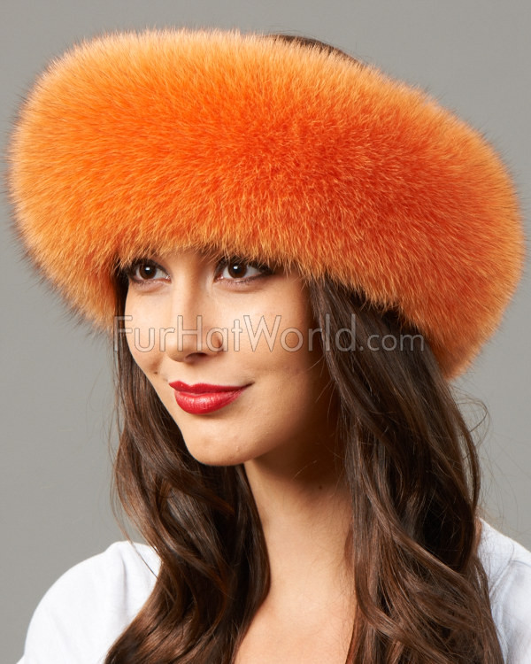 Pumpkin Fox Fur Headband