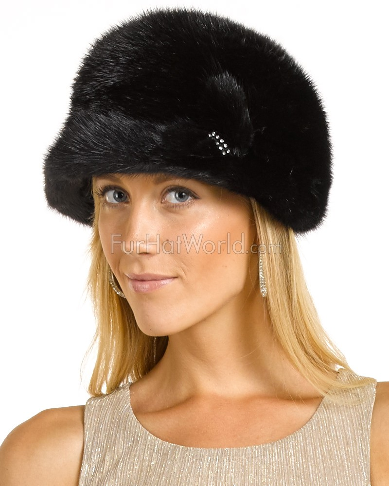 5e3b8dcde29 Jessica Black Ranch Raised Mink Equestrian Hat