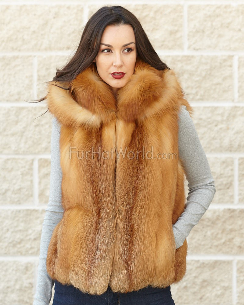 This Silver Fox Fur Vest is the definition of luxury, from the soft lush fur to the satin lining; this vest is going to feel like truly luxurious to wear. The vest features side pockets and a zipper in the front for added warmth and comfort/5(7).