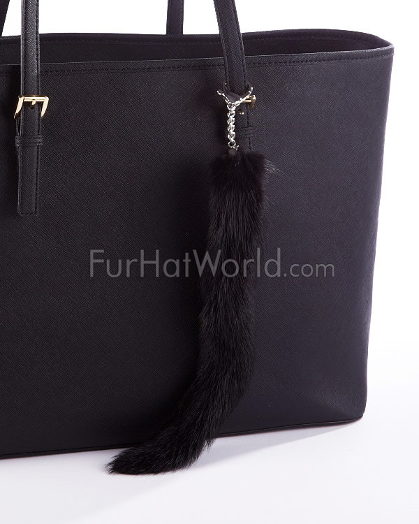 Mink Tail Fur Bag Charm