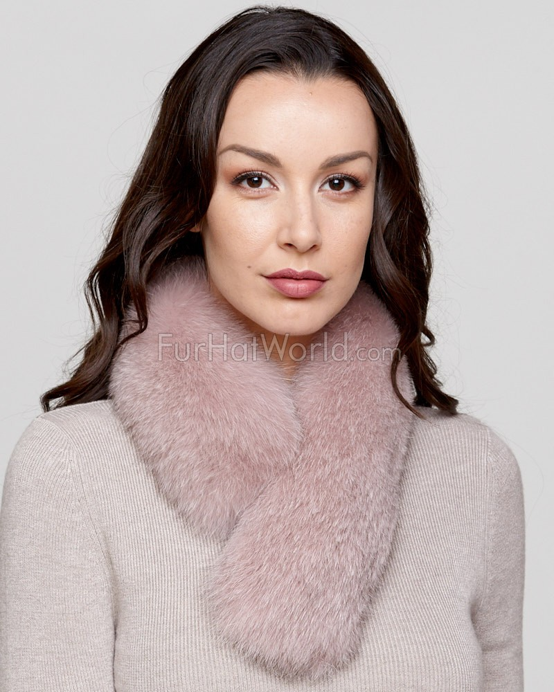 Rose Fox Fur Collar