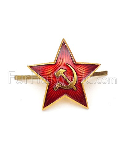 Russian Red Army Hat Badge