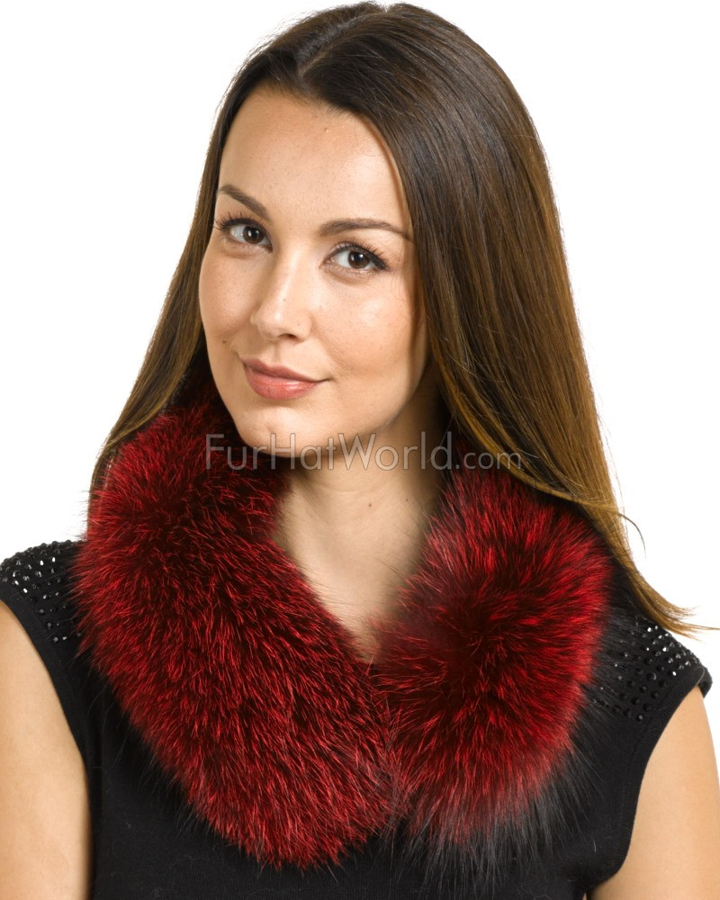 b8a8a51c5cb53 Scarlet Red Fox Fur Collar  FurHatWorld.com